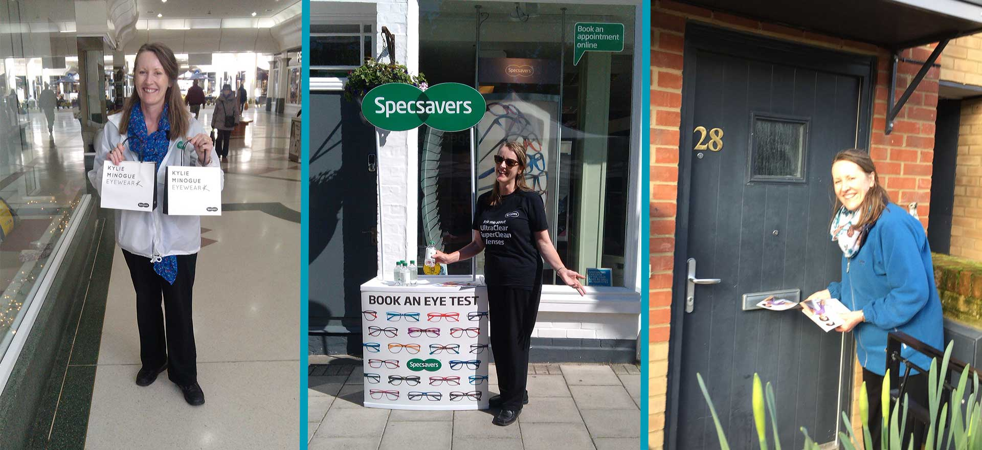 Specsavers promotional staff