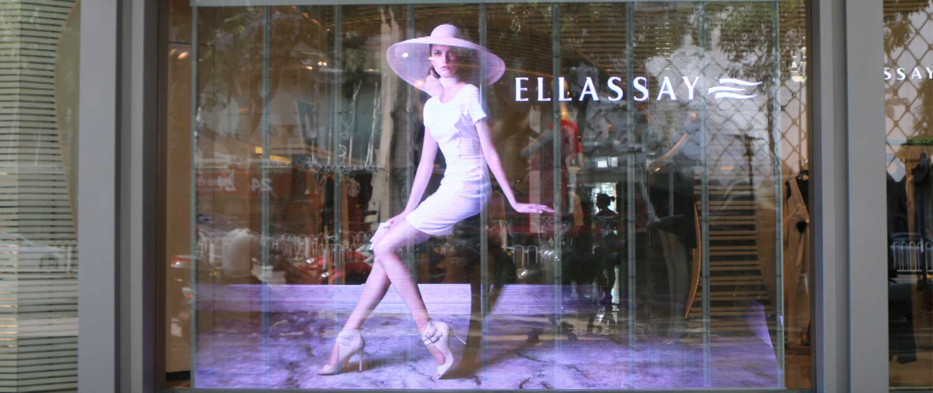Ellassay digital advertising window