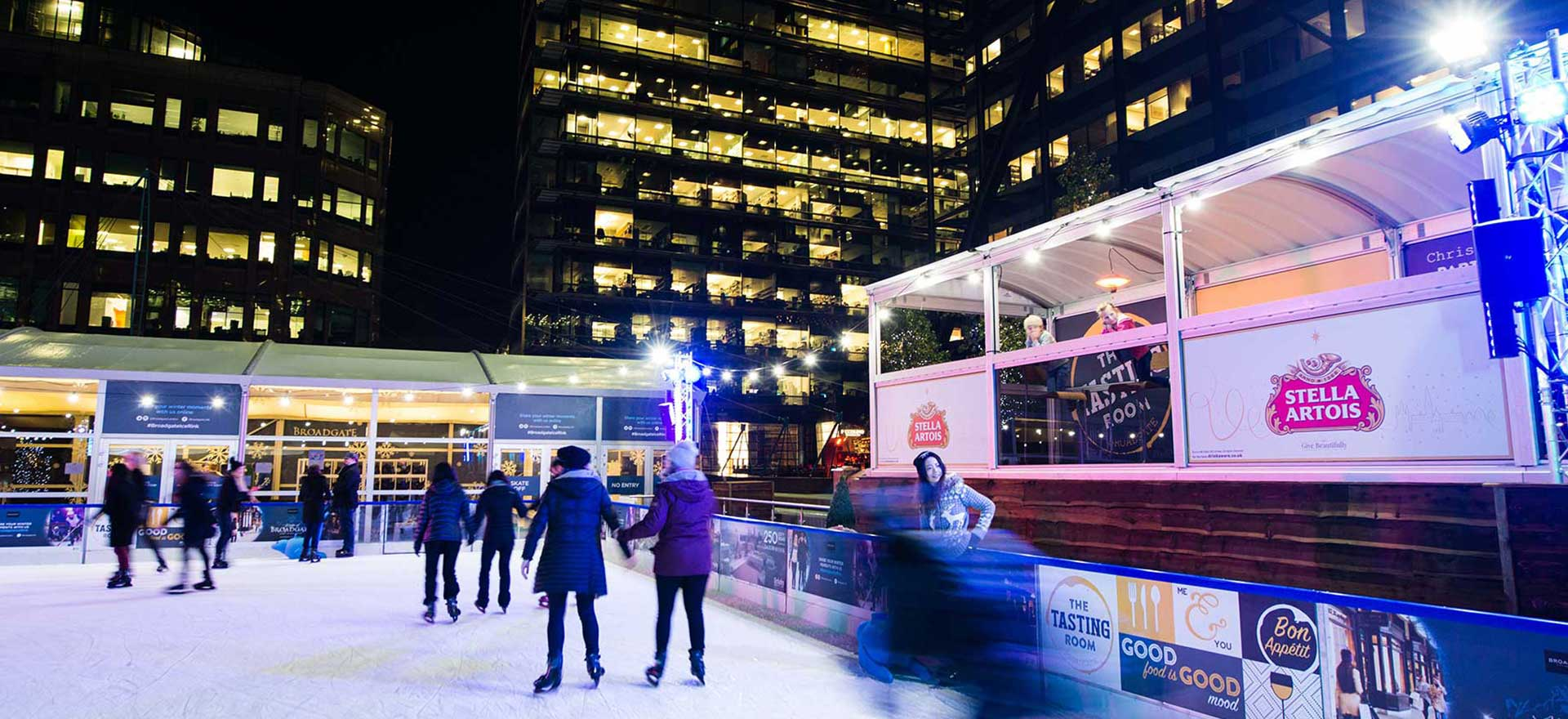 Ice rink with brand sponsership